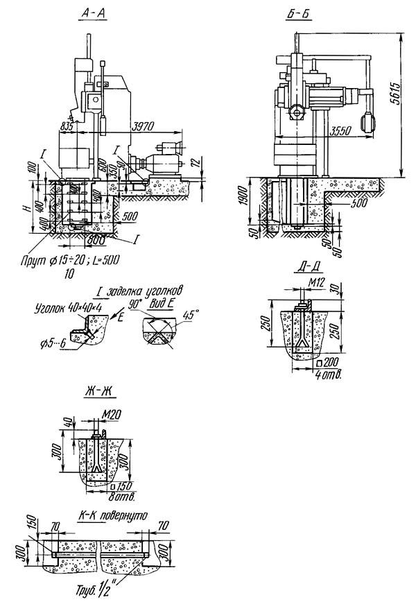 1516Ф3 Фундамент токарного карусельного станка