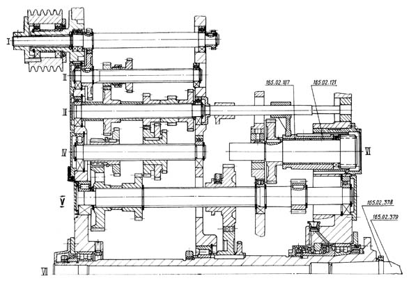 165 Бабка перндняя универсального токарно-винторезного станка