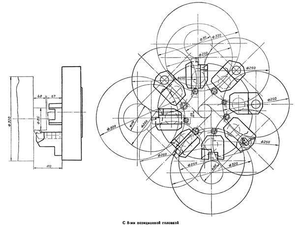 16А20Ф3 Карта возможностей станка с восьмипозиционной револьверной головкой УГ9326