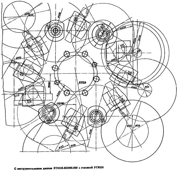 16А20Ф3 Карта возможностей станка с инструментальным диском УГ0103.452000.000 и восьмипозиционной револьверной головкой УГ9328