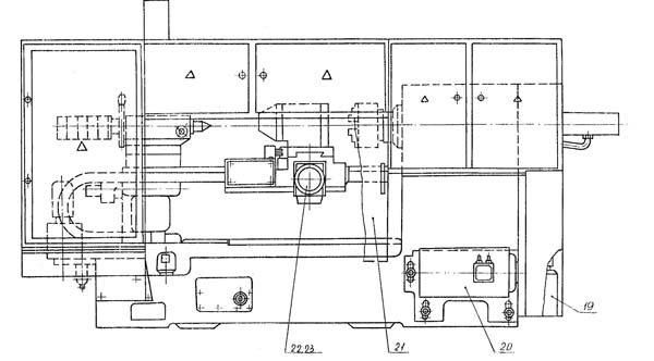 16А20Ф3 Расположение органов управления токарного станка
