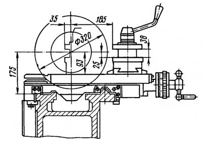 16Б16КП универсальный токарно-винторезный станок. Габаритные размеры рабочего пространства