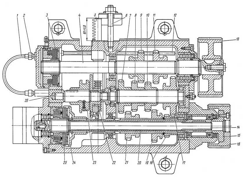 Коробка скоростей токарно-винторезного станка 16Б16КП