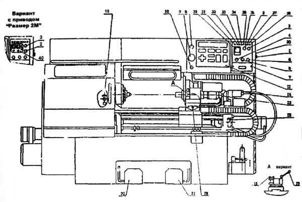 16Б16Т1 Расположение органов управления токарным станком