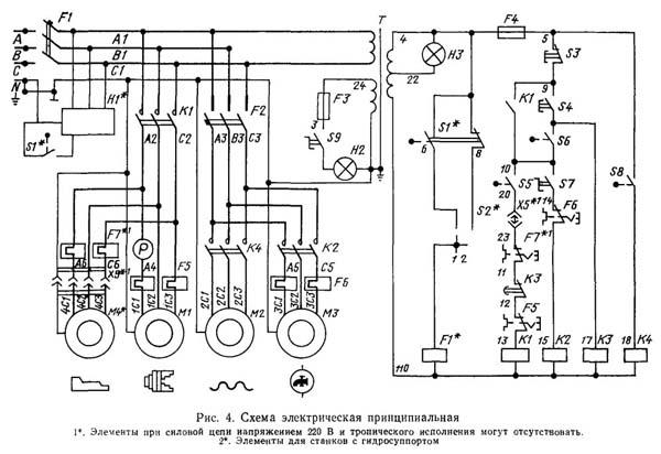 Электрическая схема подключения нити накала