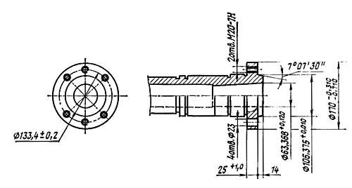 16К20Т1 Посадочные и присоединительные базы токарного станка