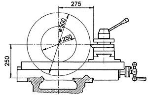 16Р25П Станок токарно-винторезный. Габариты рабочего пространства