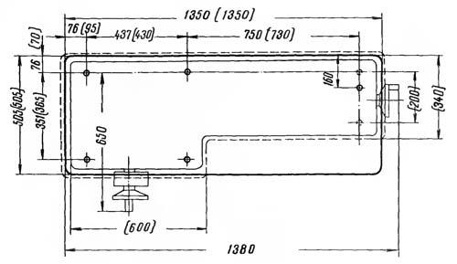 16У04П Установочный чертеж токарно-винторезного станка