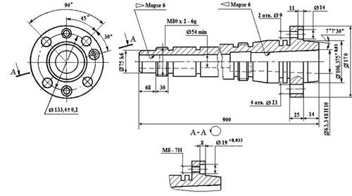 Станок токарно-винторезный 1В62Г. Шпиндель