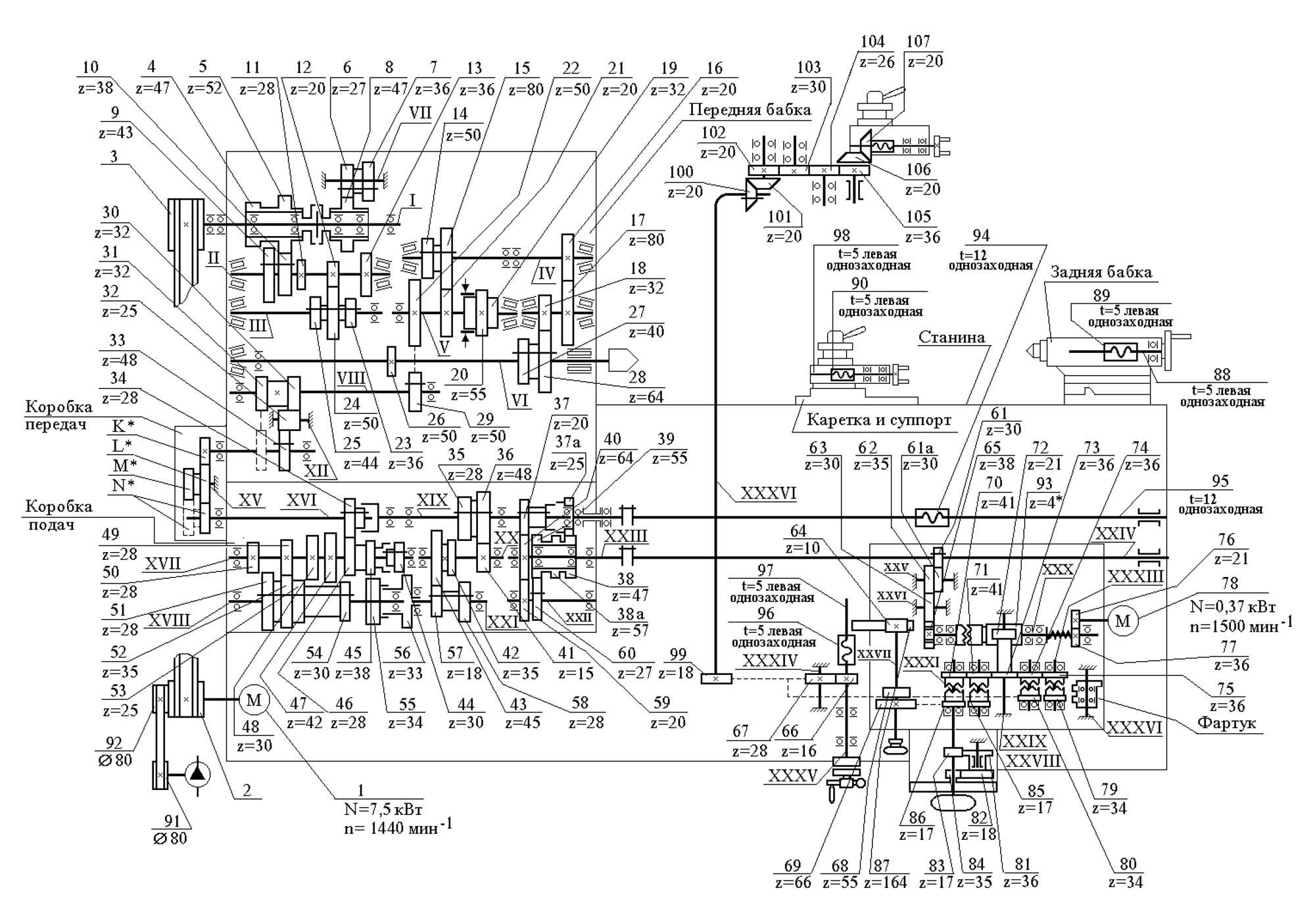 эл схема станка 16б20п.061