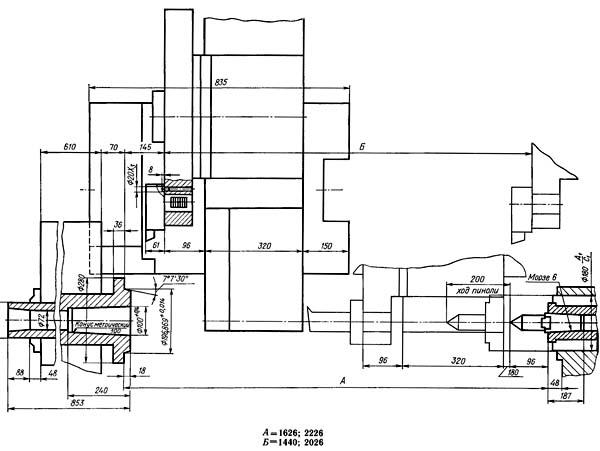 1740РФ3 Габаритные размеры рабочего пространства токарного станка с ЧПУ