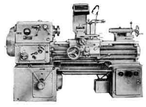 Общий вид токарно-винторезного станка 1А616
