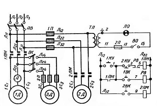 1А625 Схема электрическая