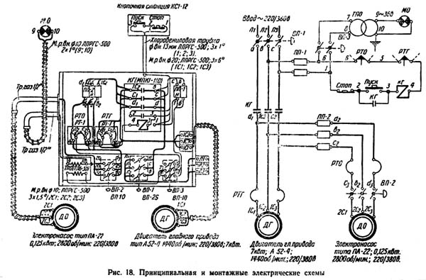 1А62 Схема электрическая