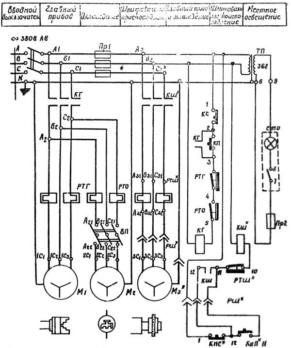 1А62Г Схема электрическая