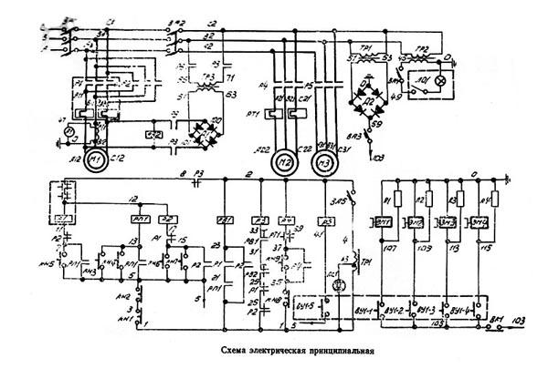 ДИП-400 Схема электрическая