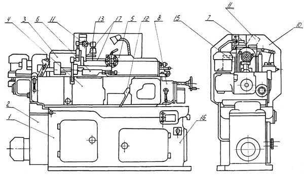 1Б140, 1Б125 состав токарного револьверного станка
