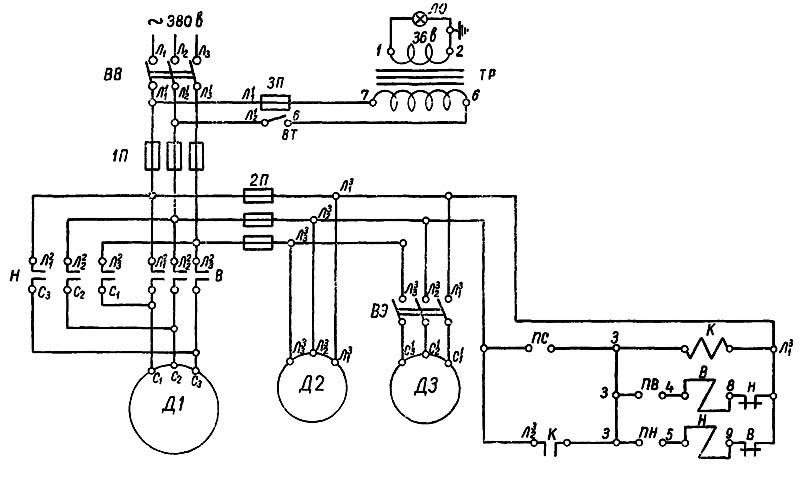 1Е61М Электрическая схема