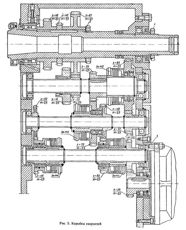 1К341 Коробка скоростей токарно-револьверного станка