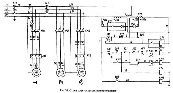 1К62Д Схема электрическая