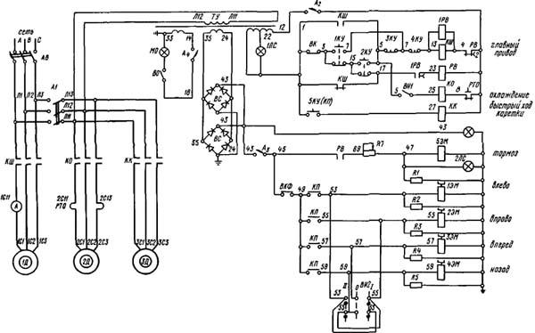 ДИП-300 Схема электрическая