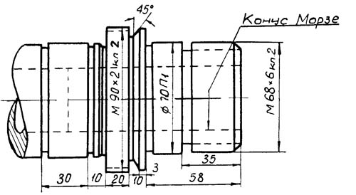 Станок токарно-винторезный 1М95. Шпиндель