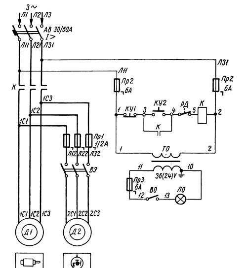 1П365 Схема электрическая