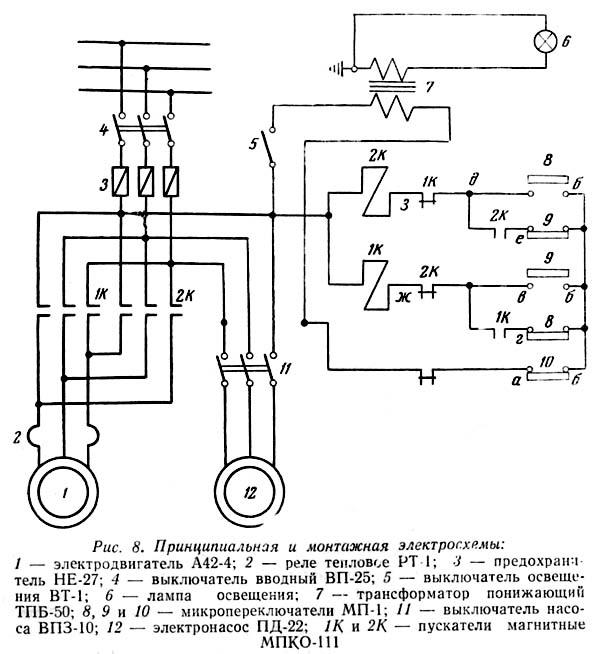 2А125 Электрическая схема вертикально-сверлильного станка