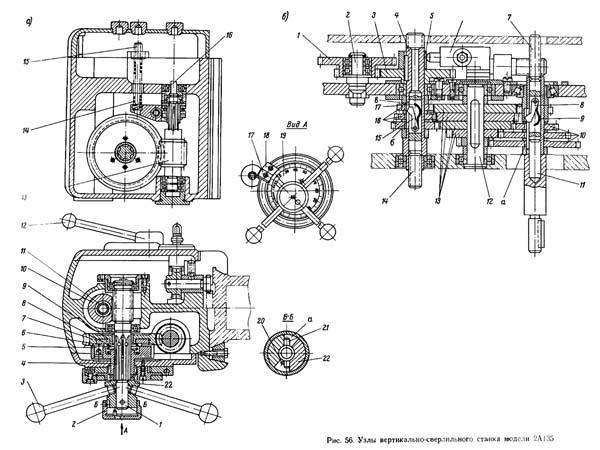 2А150 Коробка скоростей и коробка подач сверлильного станка 2А135