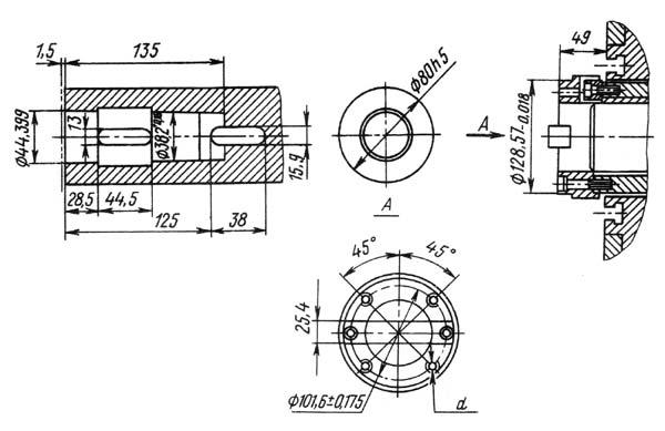 2А614, 2А614-1 Габарит рабочего пространства горизонтально-расточного станка