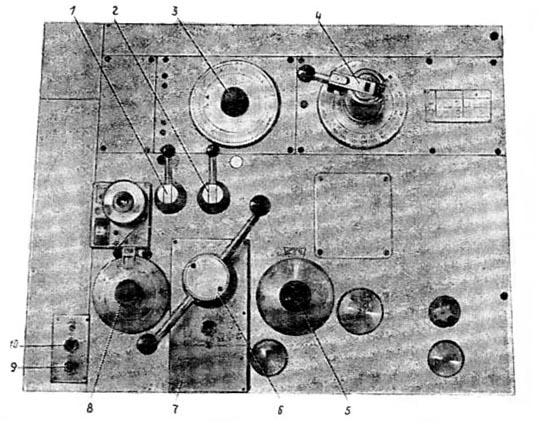 Органы управления горизонтально-расточным станком 2А620, 2А620-1