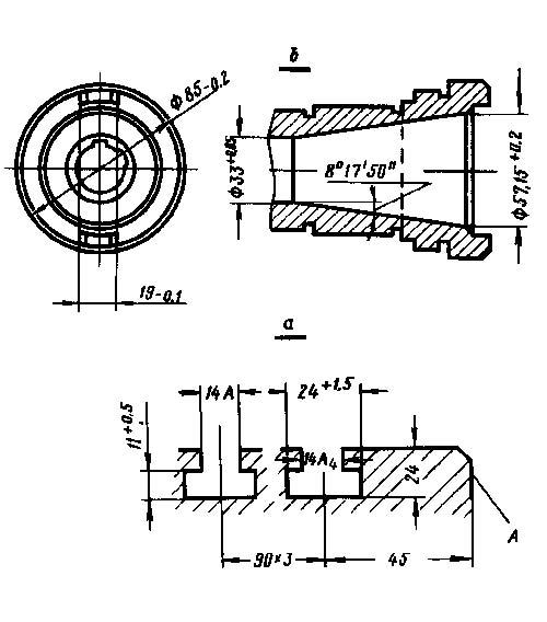 2Д450 Рабочие присоединительные базы расточного координатного станка