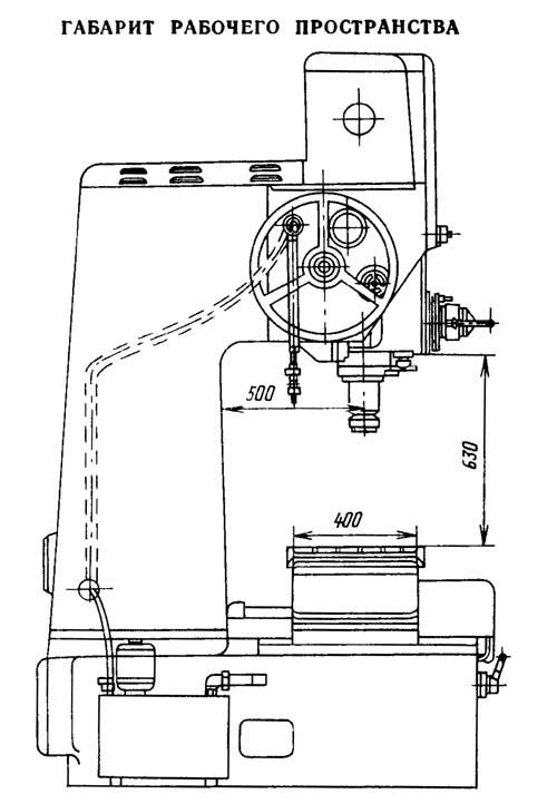 2В440А Габарит рабочего пространства расточного координатного станка