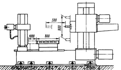 2Л614 Габарит рабочего пространства горизонтально-расточного станка