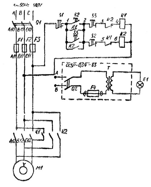 2М112 Схема Электрическая сверлильного станка