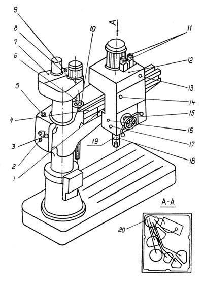 2М55 Схема смазки сверлильного