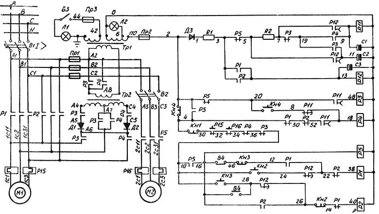 станка электропривода сверлильного принципиальная схема