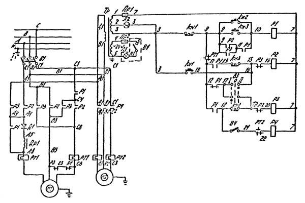 2Н125Л Электрическая схема сверлильного станка