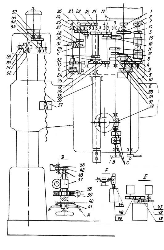 2Н55 Схема кинематическая