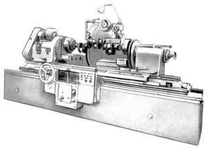 3А423 общий вид универсального круглошлифовального станка с горизонтальным шпинделем