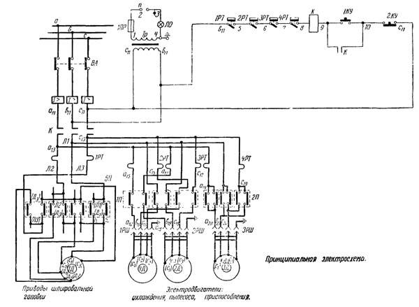 Схема электрическая заточного