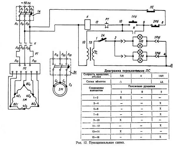 3Б634 Схема электрическая
