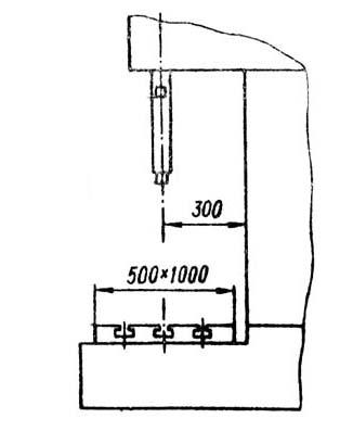 3Г833 Габарит рабочего пространства хонинговального станка