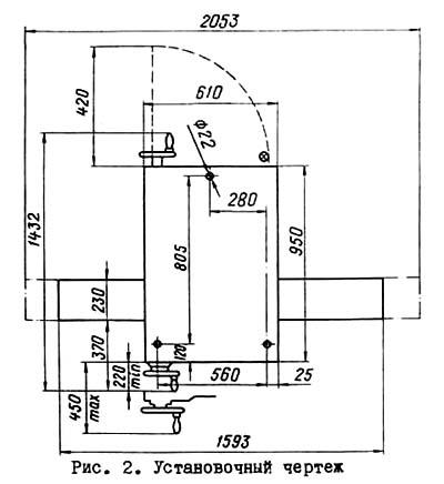 Установочный чертеж заточного станка 3В642, 3Б642