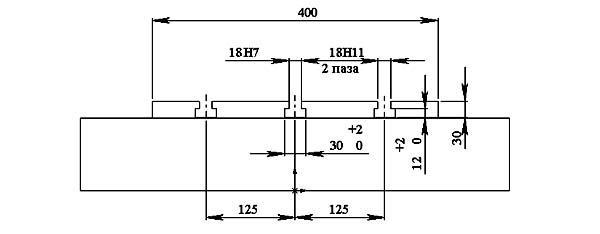 400V Посадочные и присоединительные размеры станка. Рабочий стол