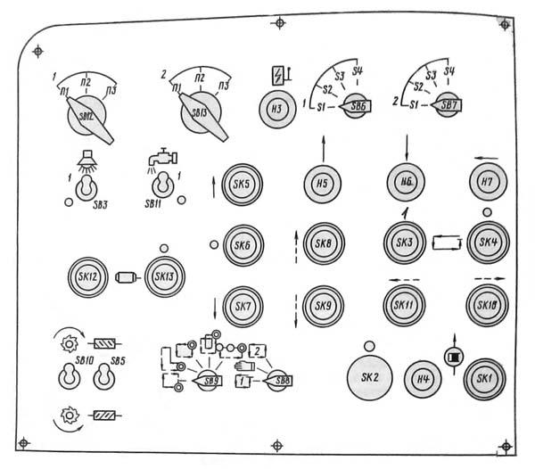 53А80 Пульт управления зубофрезерным полуавтоматом