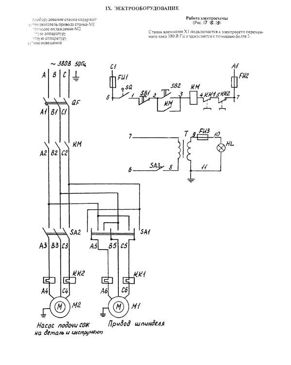 Каталог электросхем Станок