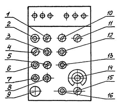 Схема органов управления фрезерным станком 67К25ПР