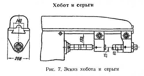 6М82 Габаритные размеры рабочего пространства и присоединительные базы универсального горизонтального консольно-фрезерного станка
