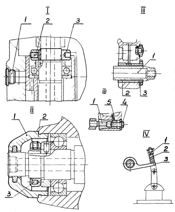 Регулирование шпиндельных подшипников поворотной головки 6М82Ш
